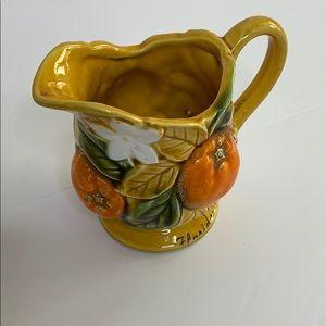 D Exclusive  Burnt Orange Floral Pedestal Pour Mug